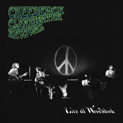 Live at Woodstock by Creedence Clearwater Revival album songs, credits
