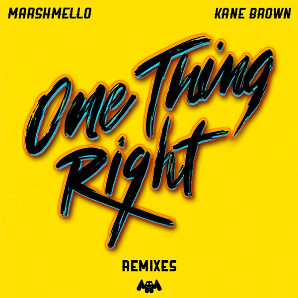 One Thing Right by Marshmello & Kane Brown song lyrics, reviews, ratings, credits