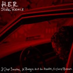 Slide (Remix) [feat. Pop Smoke, A Boogie wit da Hoodie & Chris Brown] - Single album reviews, download